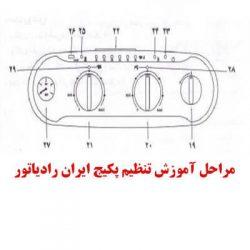 تنظیم حالت تابستانه و زمستانه پکیج ایران رادیاتور